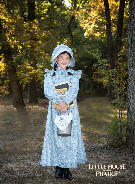 Prairie Dresses for One-Room schoolhouse costumes - Using the Little House on the Prairie fabrics by Andover Fabrics.