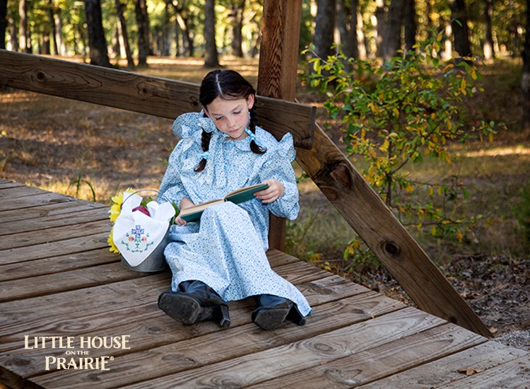 Prairie dress with Andover Fabrics is perfect for a Little House on the Prairie Costume