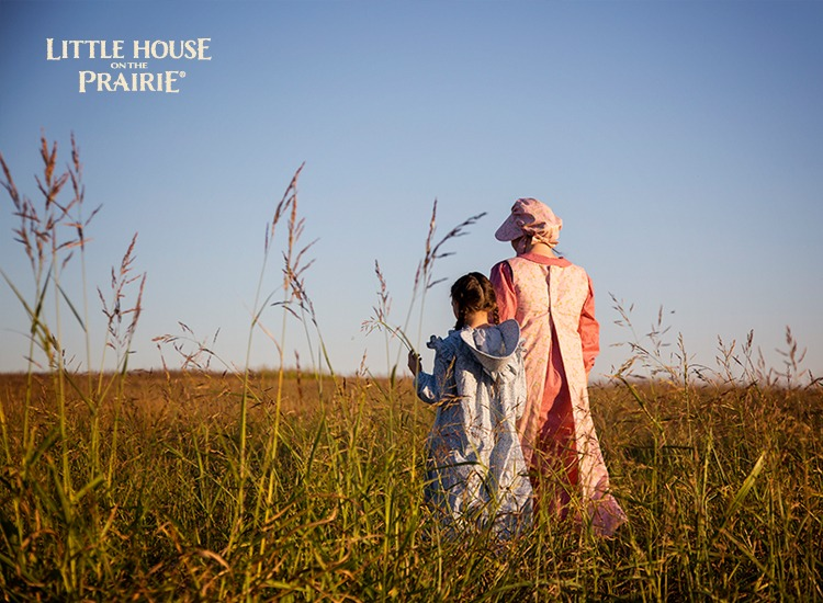 The Little House on the Prairie inspired fabrics by Andover Fabrics transformed into beautiful prairie dresses for grown ups and children both.