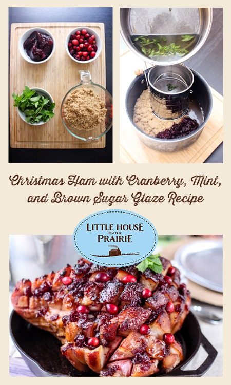 Christmas Ham with Cranberry, Mint and Brown Sugar Glaze