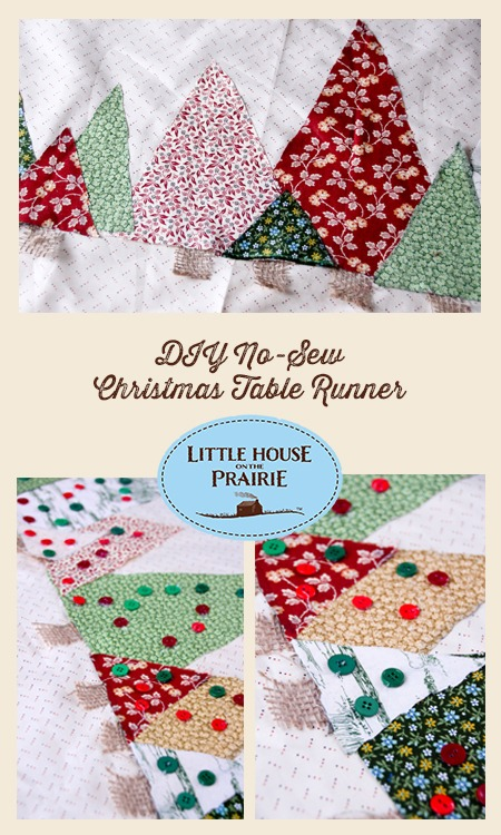 Christmas Table Runners To Sew.Little House On The Prairie Diy No Sew Christmas