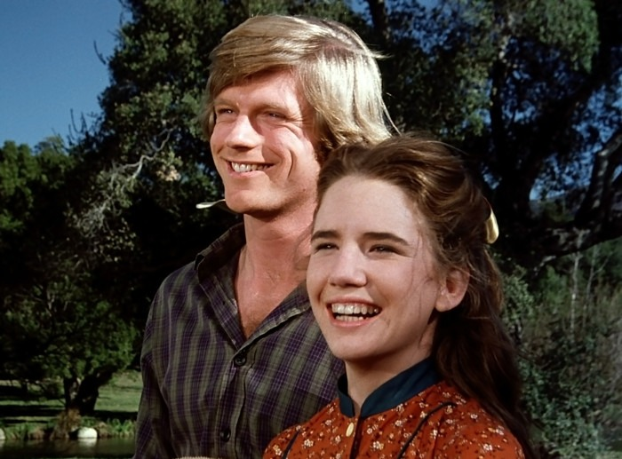 Little House on the Prairie episode He Loves Me He Loves Me Not Part One featuring Dean Butler as Almanzo Wilder and Melissa Gilbert as Laura Ingalls.