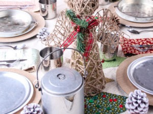 Little House on the Prairie Inspired Christmas Tablescape Featured