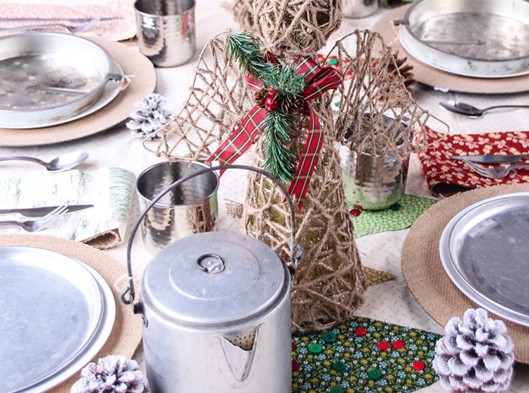 Little House on the Prairie Inspired Christmas Tablescape