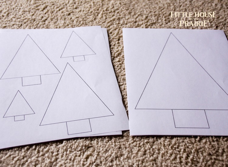 Christmas tree templates for a DIY Table runner or other Christmas crafts