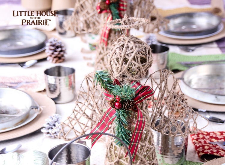 Little House on the Prairie Tablescape - Perfect Christmas or Thanksgiving country inspirations