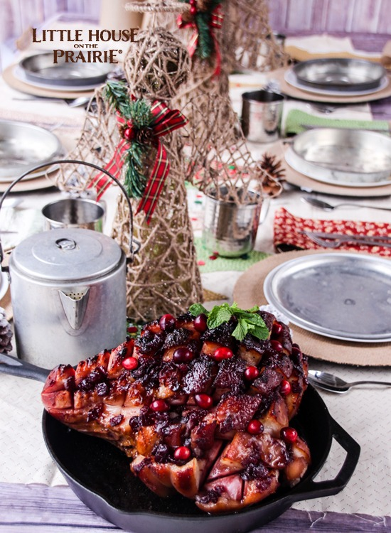 Country Christmas Tablescape - Beautifully inspired by Little House on the Prairie