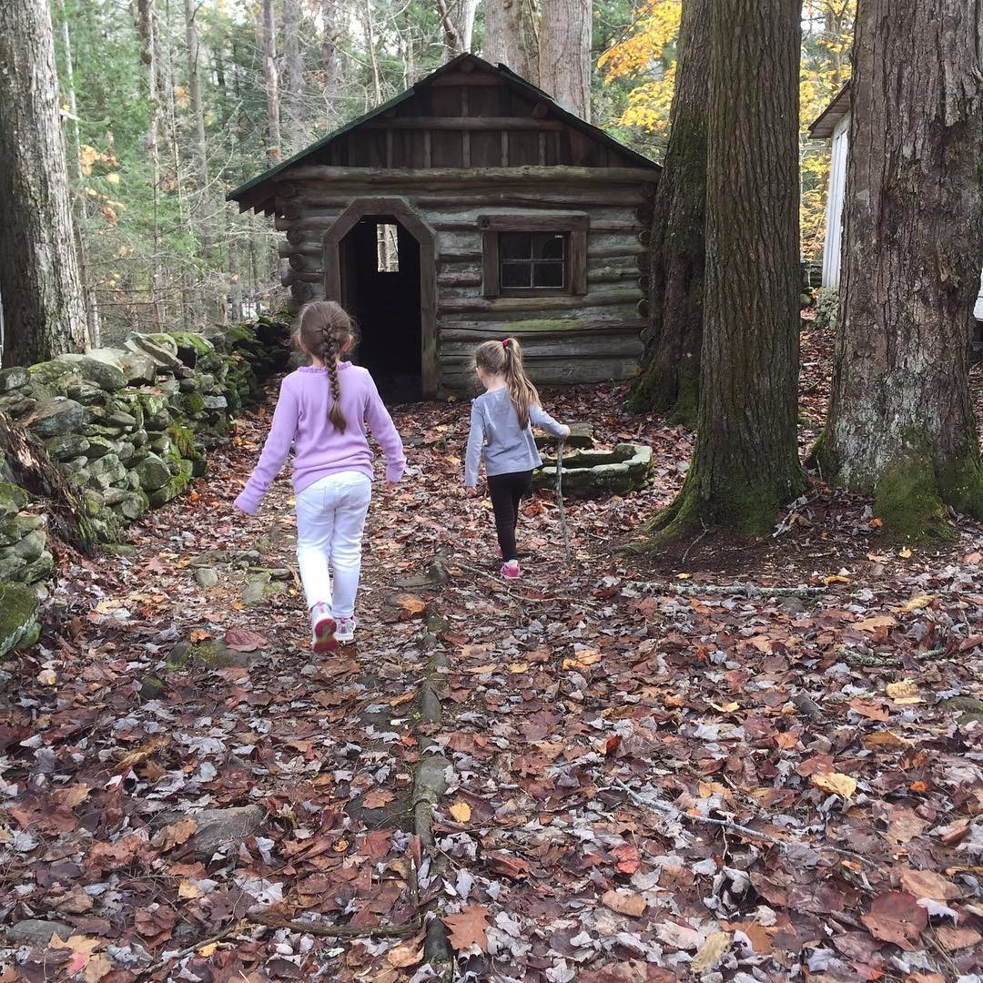Exploring in the woods - a lovely and adventurous #LittleHouseMoment
