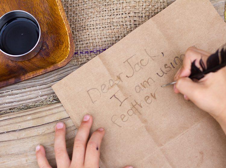 Ink and envelope slider