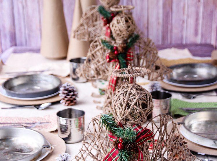 Little House on the Prairie Christmas Tablescape Slider