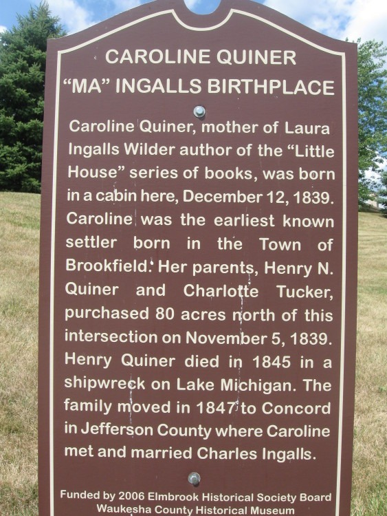 Ma Ingalls Birthplace Historical Marker