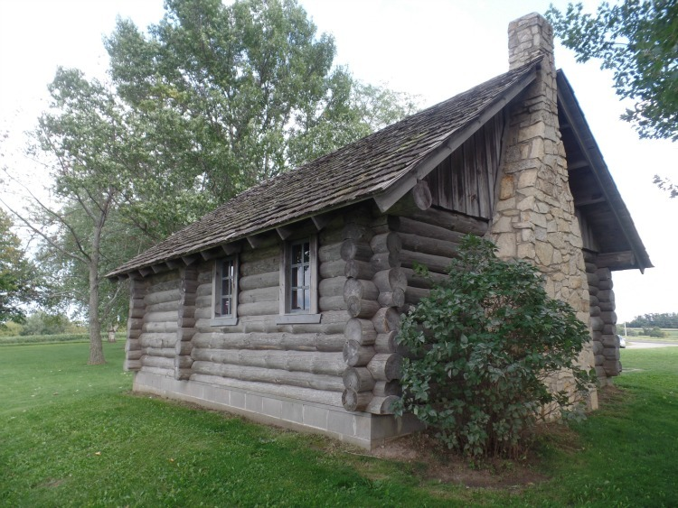 Replica cabin in Pepin where Caroline Ingalls once lived
