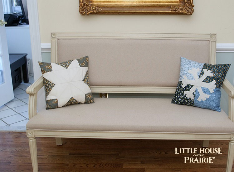 Snowflake Appliqué Pillow - The perfect winter home decor project that will last you all winter long!