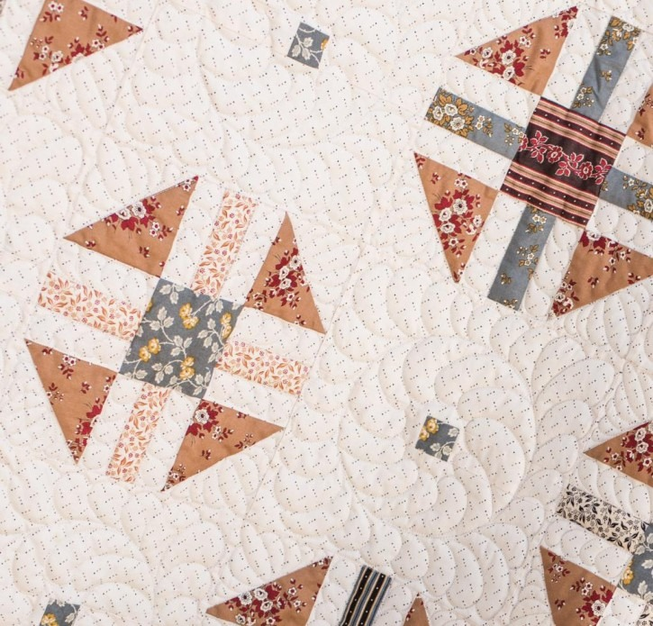 """Turn Dash Quilt Details - Gorgeous Little House on the Prairie<sup>®</sup> quilt with fabric kit included!"""" width=""""725″ height=""""695″></a></p> <p><a href="""