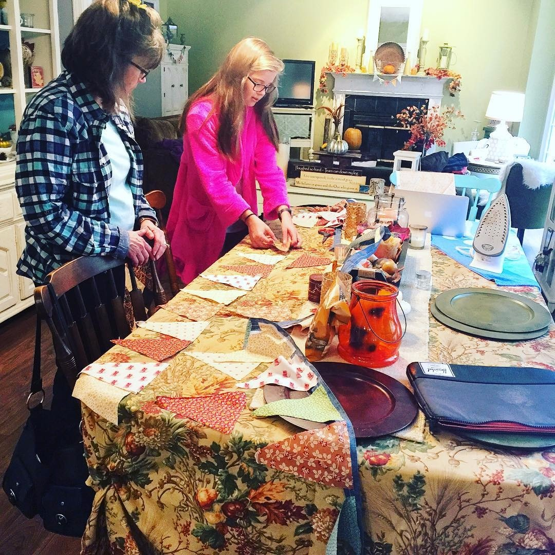Jen of Beauty and Bedlam shares this touching moment of crafting together with multiple generations in the family. So heart warming!