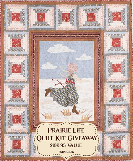 Little House on the Prairie Quilt Kit Giveaway - Win this gorgeous Prairie Life Quilt Kit!