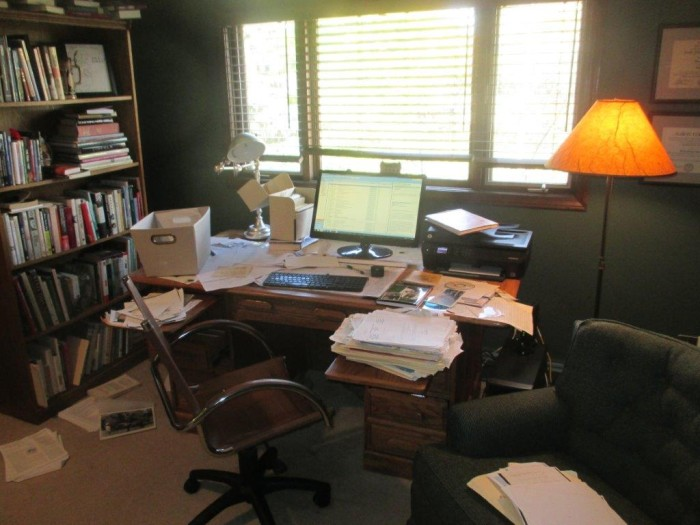 Author William Anderson's office while working on The Selected Letters of Laura Ingalls Wilder.