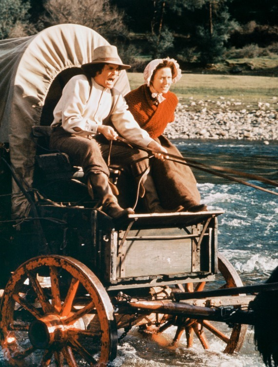 Crossing the river to get to a new homestead - Pa Ingalls showed incredible bravery for his family