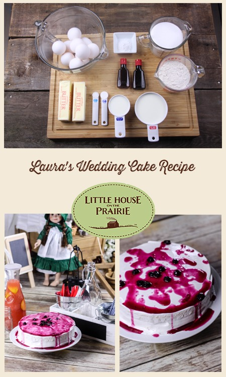 Laura's Wedding Cake Recipe inspired by Little House on the Prairie books!