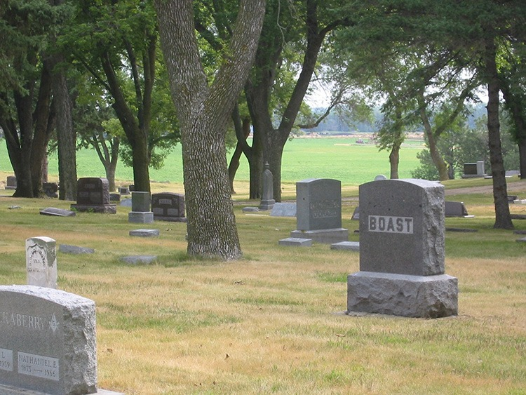 The historic cemetary in De Smet where many members of the Ingalls family are buried.