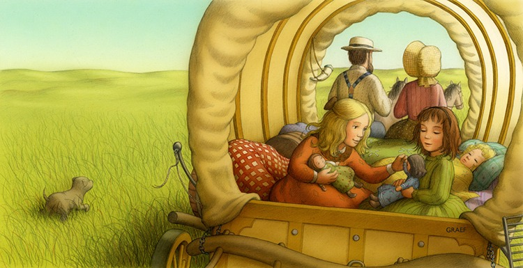 Illustrating Little House, by Renée Graef, an award-winning illustrator of over 80 books for children, including the Kirsten series in the American Girl collection and many of the My First Little House books by Laura Ingalls Wilder.