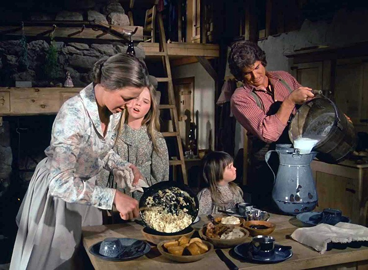 Image result for the little house on the prairie caroline in the kitchen