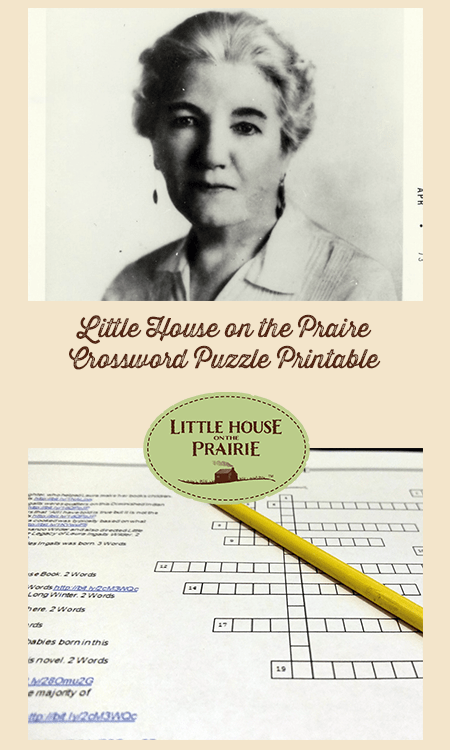 Little House on the Prairie Crossword Puzzle Printable