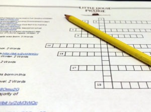 Little House on the Prairie Crossword Puzzle