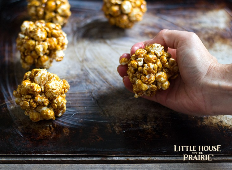 Little House on the Praire Fall Popcorn Balls