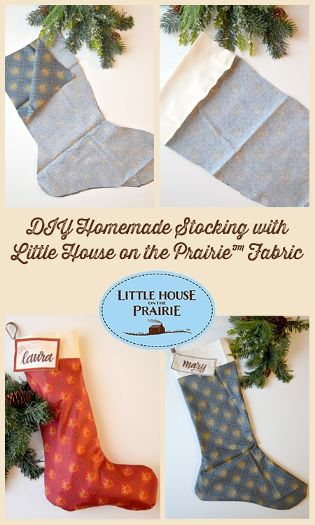 Homemade Christmas Stockings with Little House on the Prairie Fabrics