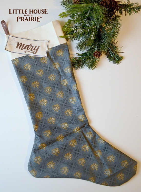 Gorgeous Little House on the Prairie inspired DIY stocking.