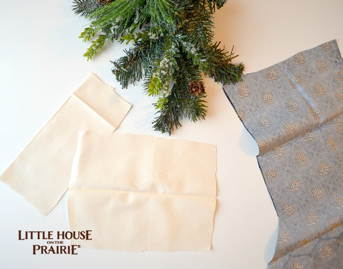 Cutting the tags for your Little House on the Prairie Stocking