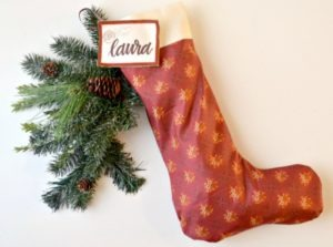Little House on the Prairie Homemade Stocking DIY