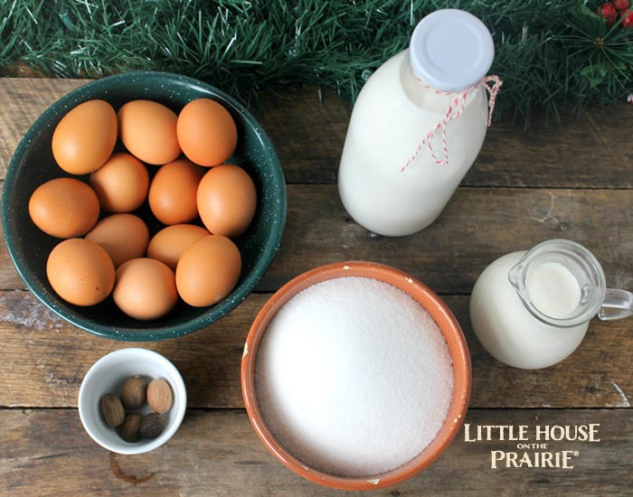 Old-Fashioned Eggnog Ingredients