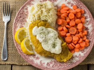 Little House Inspired Pan Fried Fish with Lemon Dill Sauce