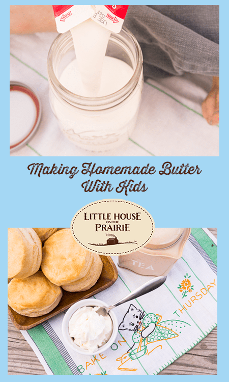 Making Homemade Butter With Kids