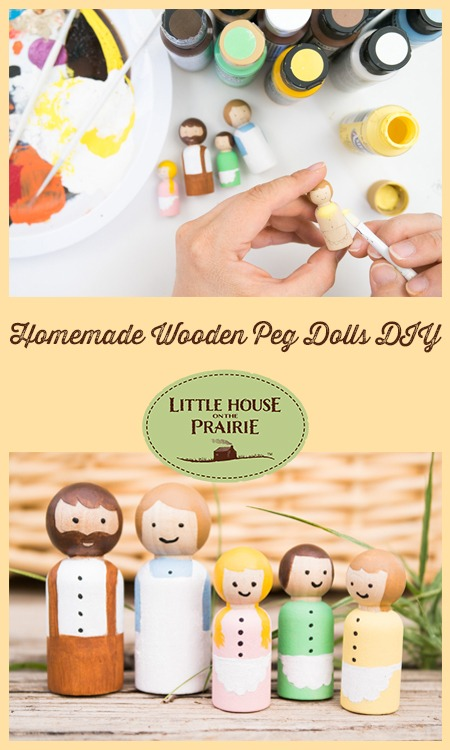 Homemade Wooden Peg Dolls DIY - Toys inspired by Little House on the Prairie