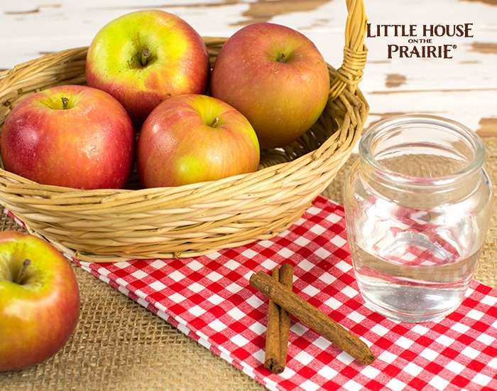 Ingredients for Homemade Applesauce inspired by Little House on the Prairie