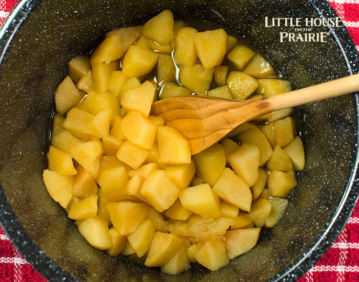 Making old-fashioned applesauce recipe. So delicious.