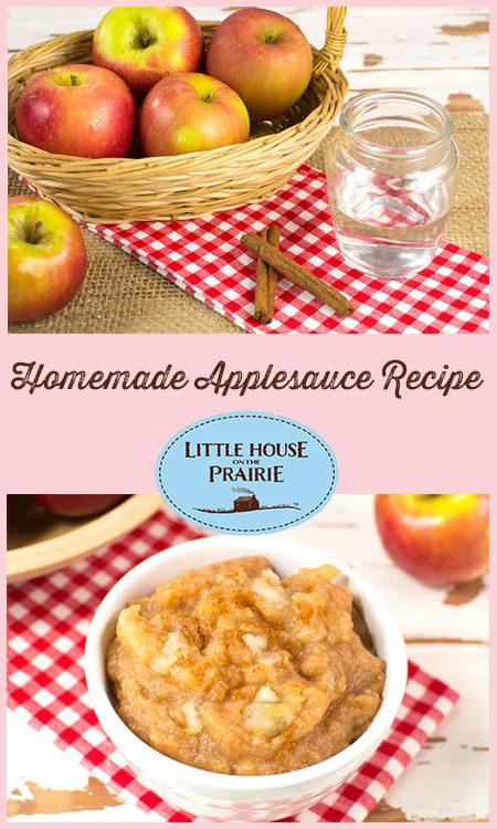 Homemade Applesauce Recipe Inspired by Little House on the Prairie