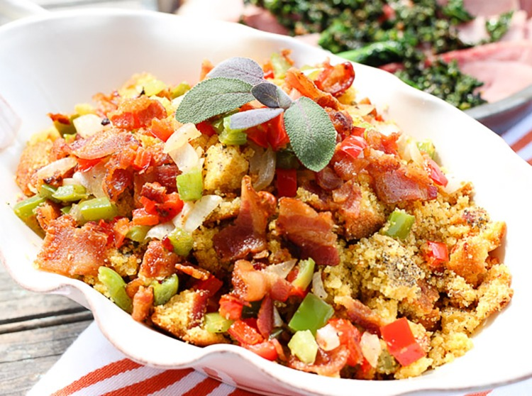 Cornbread Stuffing Inspired by Laura Ingalls Wilder