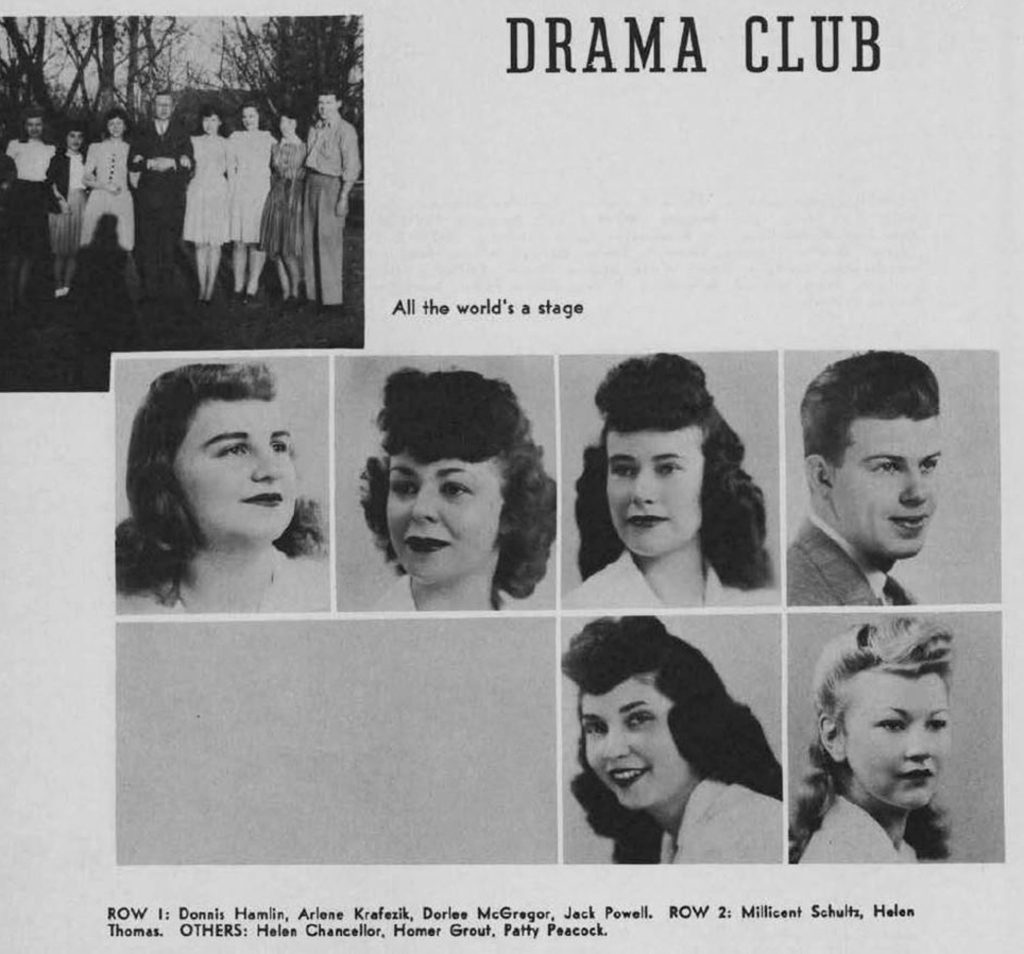 Dorlee McGregor 1944 University of Denver Drama Club