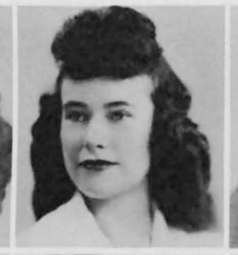 Dorlee McGregor 1944 Yearbook picture(3)