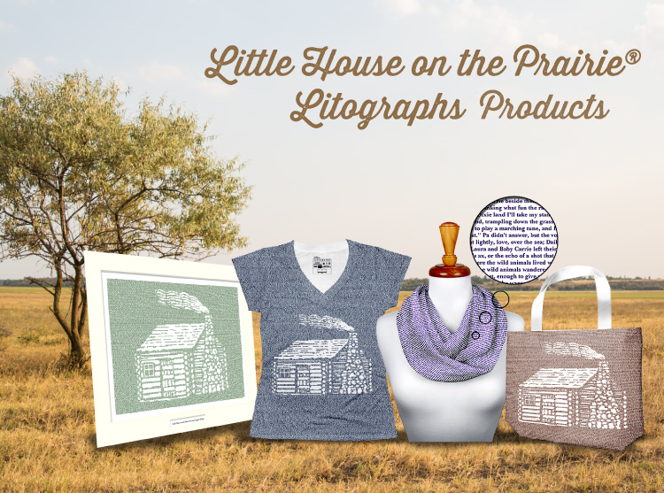 Litographs Little House on the Prairie<sup>®</sup> Collection - Wear Laura's Words for Smart and Fun Fashion!