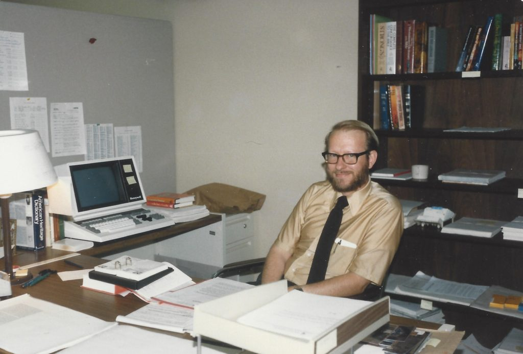 Stephen as a young journalist. Photo courtesy of Stephen W. Hines.