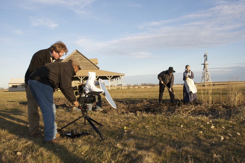 Dean Butler directing the Laura Ingalls Wilder documentary